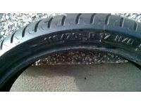 used metzler 110/70/17 motorcycle tyre