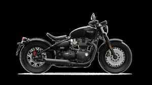 2018 Triumph Bonneville Bobber Black $500 Cash Rebate OR 0% for