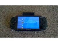 PSP piano black slim & lite handheld console