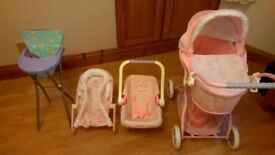 baby pram, car seat & bouncer
