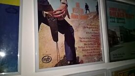 Framed Big Western Movie Themes..vinyl record..genuine record inside..