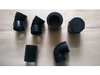Solvent Weld fittings - 43mm Acess Plug, Straight Coupler, 90 Elbow, 45 Elbow
