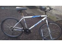 GENTS MOUNTAIN BIKE 20 INCH FRAME 26 INCH ALLOY WHEELS good condition