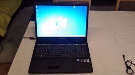Samsung R700 laptop with 17 inch screen, with charger and laptop case
