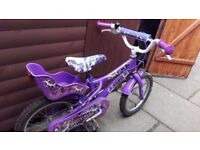 "Sweet 16 purple girl 16"" bike"