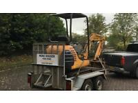 Groundwork, landscaping, plant hire
