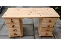 STRIPPED SOLID PINE DRESSING TABLE
