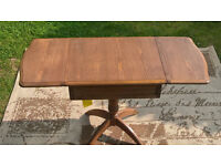 A New Chetsworth Honey Elm Drop-leaf Side Table.