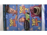 Toy Story 1, 2, 3, blu ray DVD