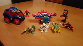Marvel Spiderman Stunt Buggy, Stunt Wing Plane & other figures - COLLECTION ONLY, HERTFORD TOWN