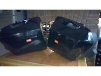 Aprilia RST 1000cc Futura Touring Panniers, black, for sale £100