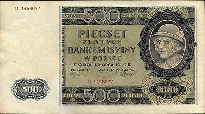 Ro.578 Generalgouvernement Polen 500 Zloty 1940 (1/1-)