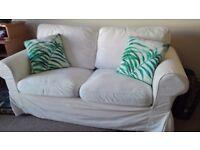 2 seater IKEA EKTORP sofa white