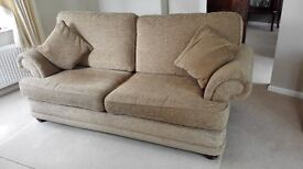 Beige Three Piece Suite in excellent, clean condition. 3 seated sofa and two armchairs.