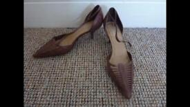 Women's Faith Brown Tan Court Shoes