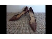 Women's Faith Brown Tan Court Shoes