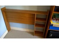 Reversible teak effect headboard for 3ft single bed. Cash on collection please.