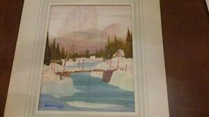 Watercolour painting by Graham Noble Norwell, O.S.A.