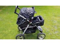 Baby Pushchair & Baby Carry-Cot – Black
