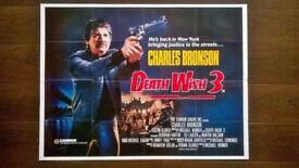 charles bronson ' death wish 3 ' original 1980s cinema poster