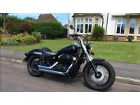 HONDA VT750 SHADOW BLACK SPIRIT ONLY 900 MILES 1 OWNER OVER £2000 OF EXTRAS £4650