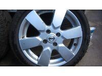 Nissan micra alloy wheel + tyre Set of 4, 185 / 50R / 16