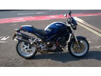 Ducati Monster S4R (996cc) Low Mileage 12000miles Blue Extras