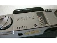 olympus pen-d ' 35 mm half frame film camera