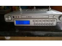 Under shelf radio/CD Player silver fixing attached