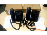2 X Polycom VVX 400 Series Business Media Phones IN MINT CONDITION.