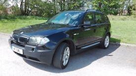 BMW X3 3.0i Sport BLACK x-drive 4x4 SUV 2004 LPG converted 40mpg 231BHP private plate