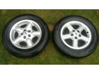 Landrover Freelander Alloy Wheels and tyres