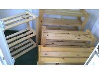 wooden storage/shoe racks