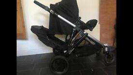 Britax double travel system with car seat