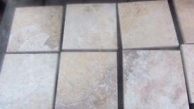 336 10cmx10cm beige/rustic coloured italian wall tiles