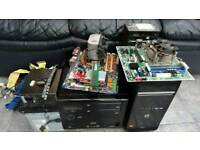 Computer PC parts motherboard Cases RAM Psu Sata HD IDE DVD Burners Quad core