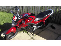 Honda CB125F 125cc Moped Motorbike Red, Full Service History, Security, Cleaning and Clothing Gear