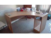 Corner office computer desk