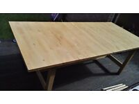 Solid pine kitchen table................