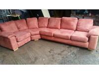 Dfs Faux Suede Large Corner Sofa