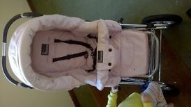baby syle pink leather pram