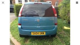 Vauxhall Meriva 04 blue cheap to ensure
