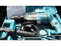 Makita hammer drill with case