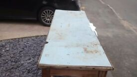 Large wooden home made work bench