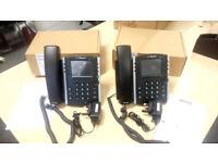 2 X Polycom VVX 400 Series Business Media Phones IN MINT CONDITION - VONAGE