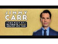 2x Jimmy Carr tickets SECC Glasgow 6th row!!