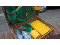 2 X GARDEN PICNIC BASKETS WITH CONTENTS