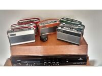 Collection of vintage ROBERTS RAMBLER radios in a variety of colour options ALL GOOD WORKING ORDER