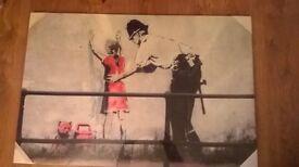 UNOPENED Banksy Canvas 90cm, 60cm