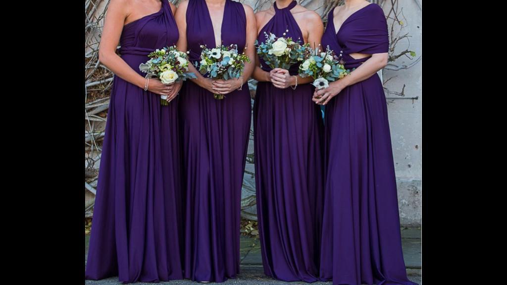 Plum wrap bridesmaids dresses | in Poole, Dorset | Gumtree